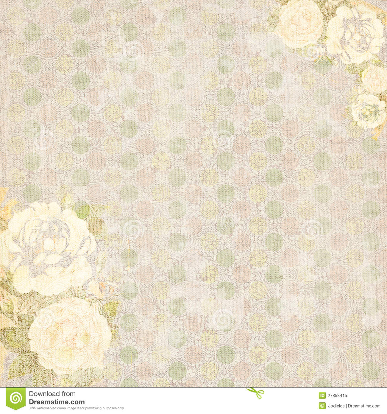 Vintage Shabby Chic Rose Floral Pattern Background
