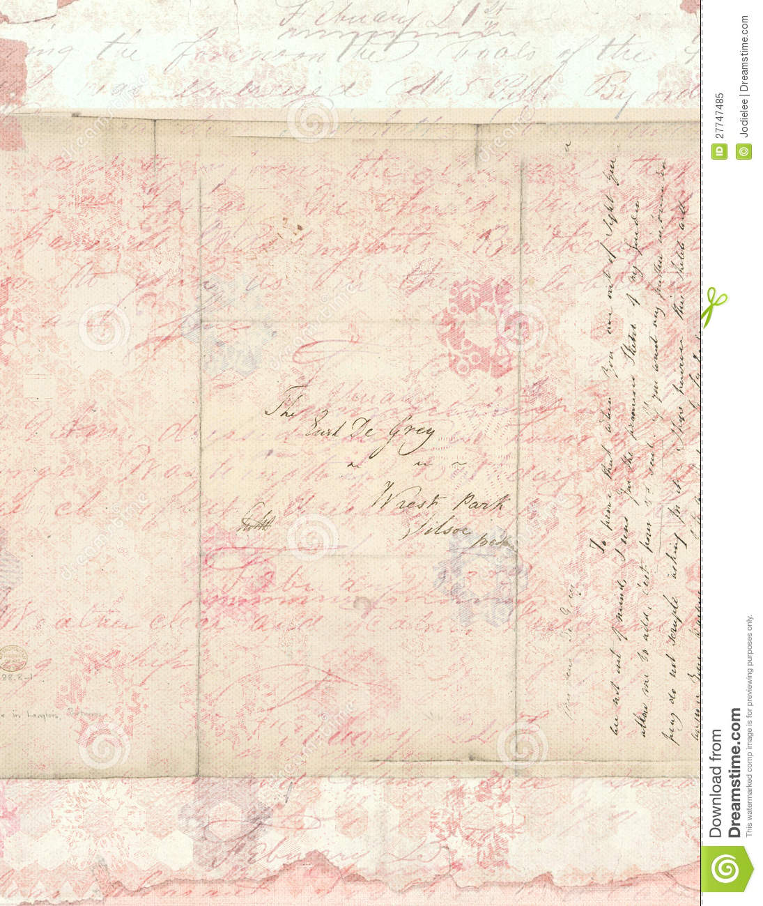 Shabby Chic Vintage Floral Background With Script Flowers Stationary