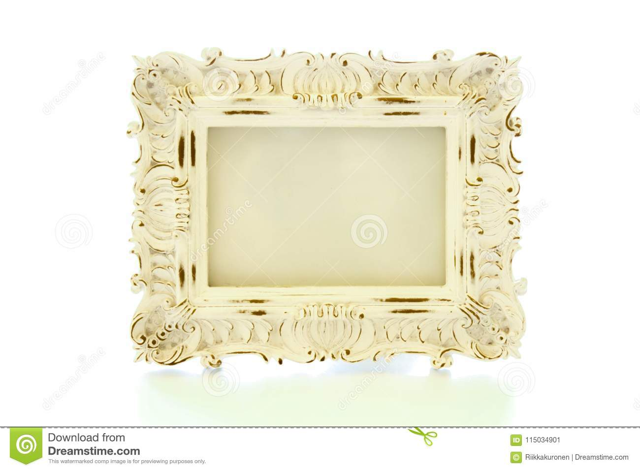 Shabby Chic White Frame With No Picture In It Stock Image - Image of ...