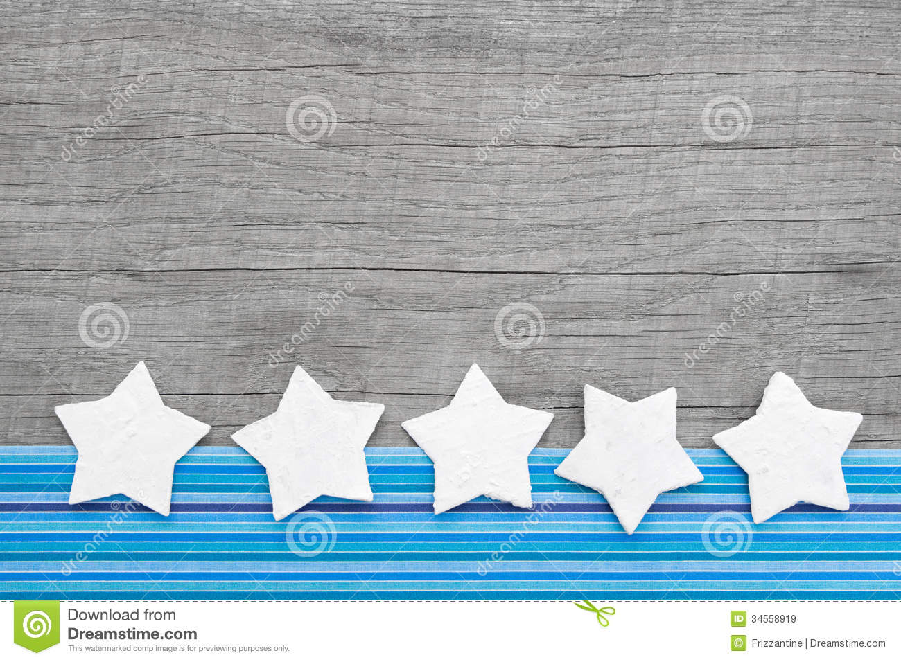 Download Shabby Chic Wood Background With Stars For Christmas Stock Image