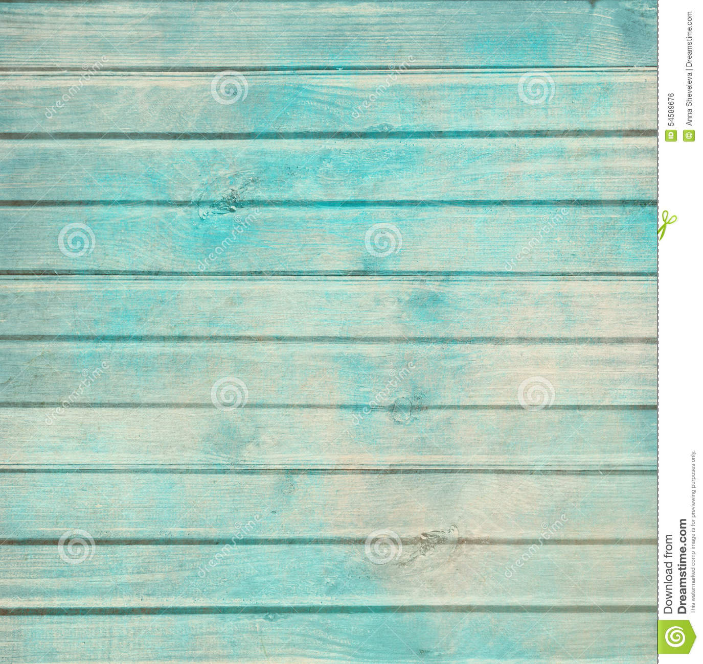 Rustic Old Plank Background In Turquoise Mint And Beige Colors With Textured Scratches Antique Cracked Paint For Scrapbooking Decoupage
