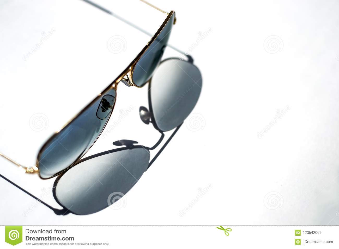 shade from blue sunglasses with Golden frame