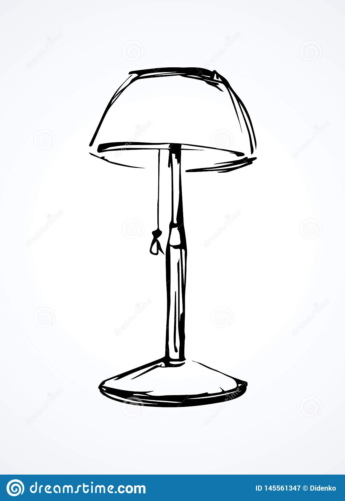 Shade Lamp Vector Drawing Stock Vector Illustration Of Chandelier 145561347