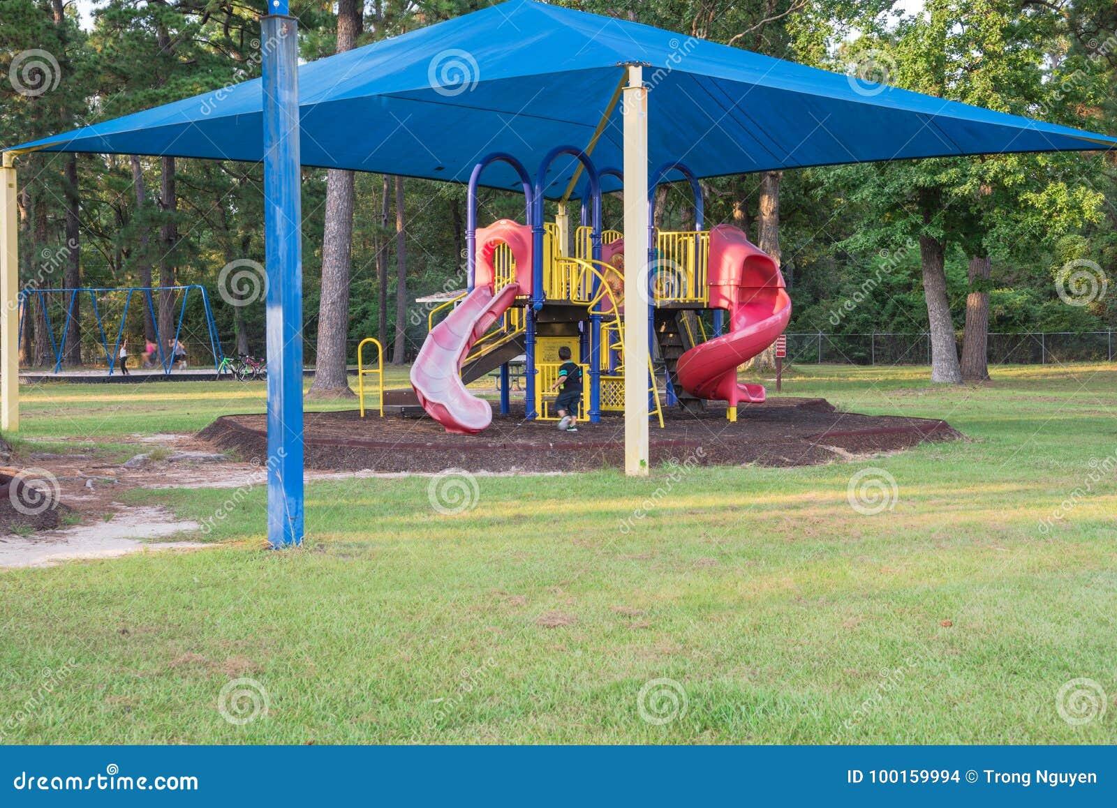 Shade Structure Playground Houston Texas Usa Stock Photo Image