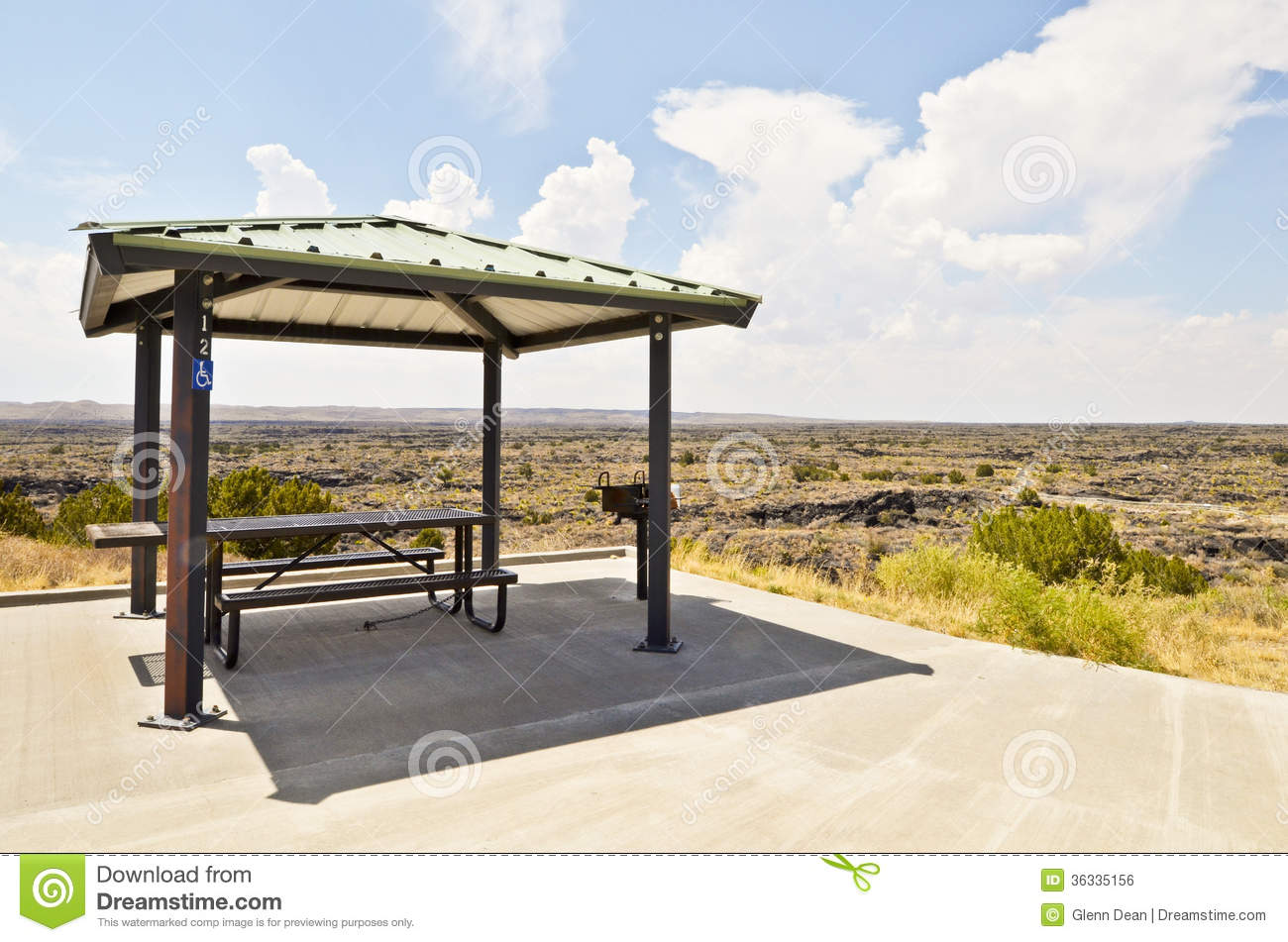Royalty Free Stock Image Shaded Picnic Table Covered Providing Shade ...