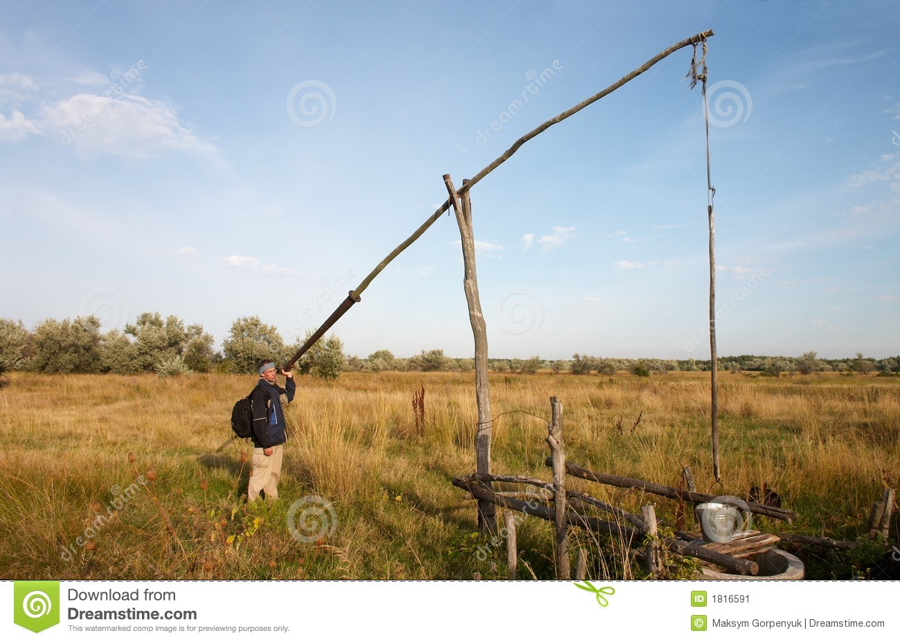 Shadoof Well Stock Image  Image Of Sweep  Area  Country