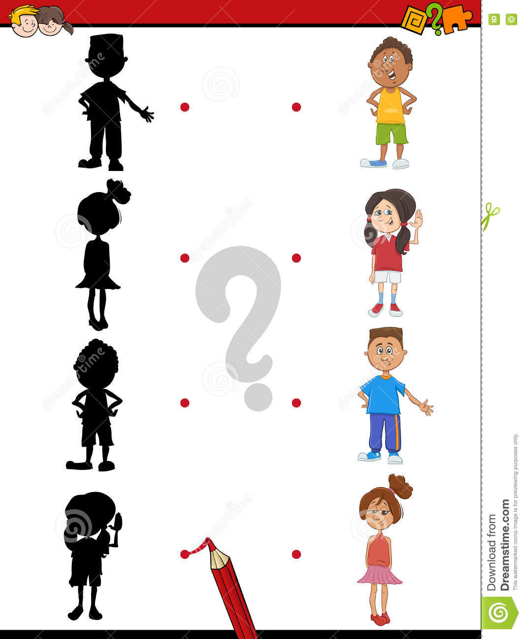 Download Shadow Activity With Children Stock Vector - Illustration of vector, funny: 76631083