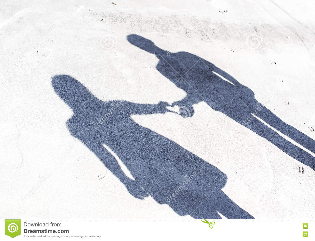 Shadow from couple of lovers.