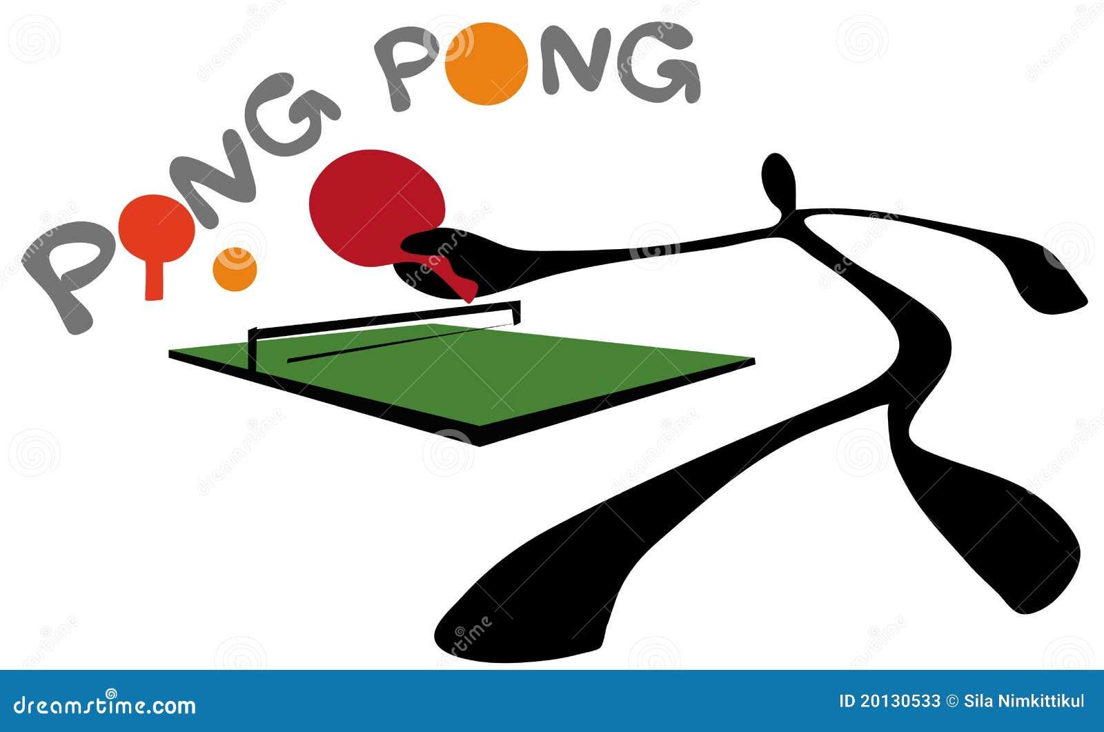 Shadow Man Ping Pong Or Table Tennis Stock Photos - Image: 20130533