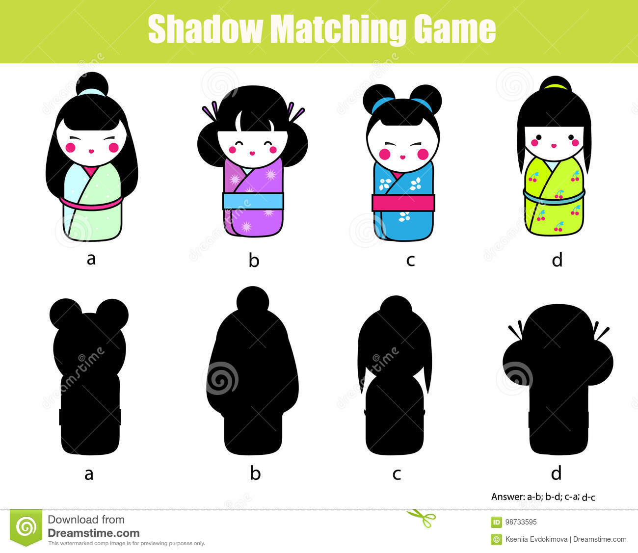 photo about Matching Games for Toddlers Printable identify Shadow Matching Sport. Track down The Straight Shadow. Sport For