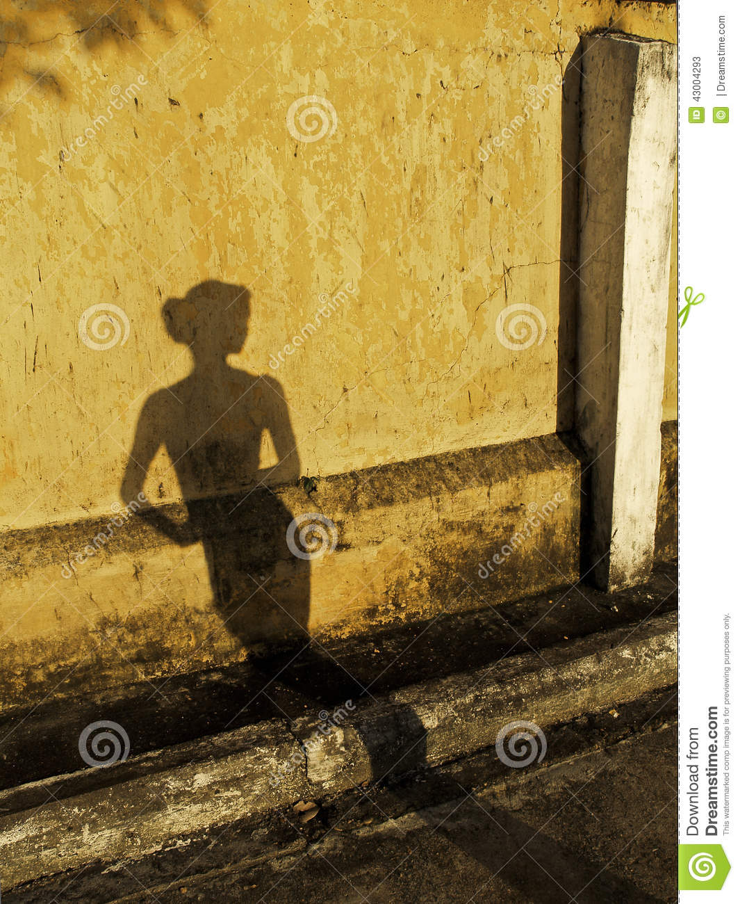Shadow Woman stock image. Image of wall, faded, kristen - 43004293