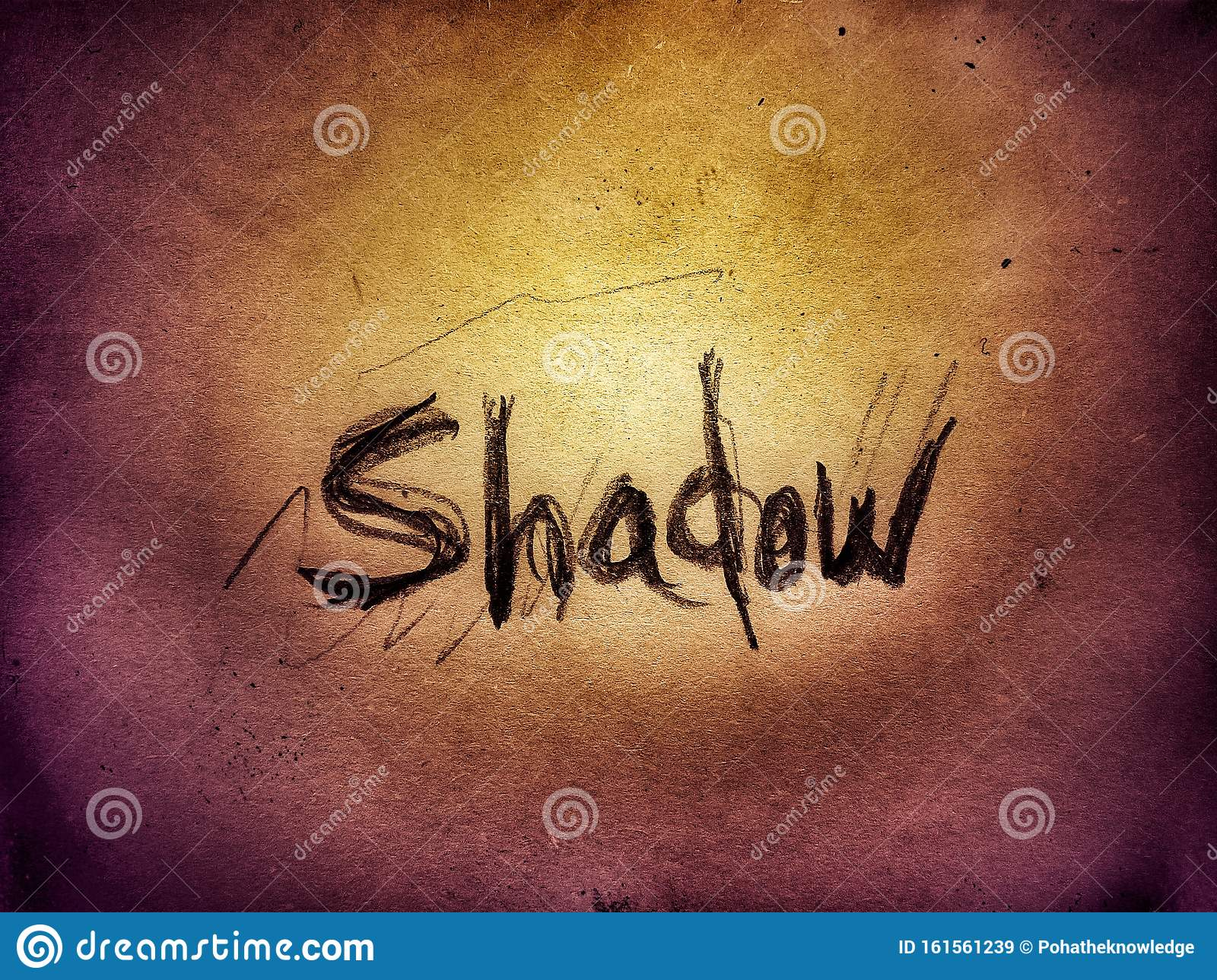 Shadow Word On The Gold Bright Color Wall Background ...