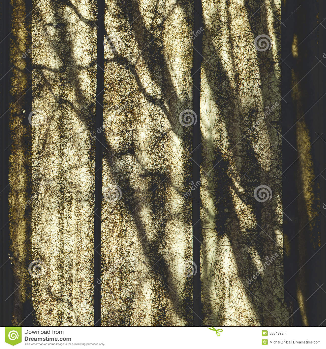 Shadows abstraction on polycarbonate panel