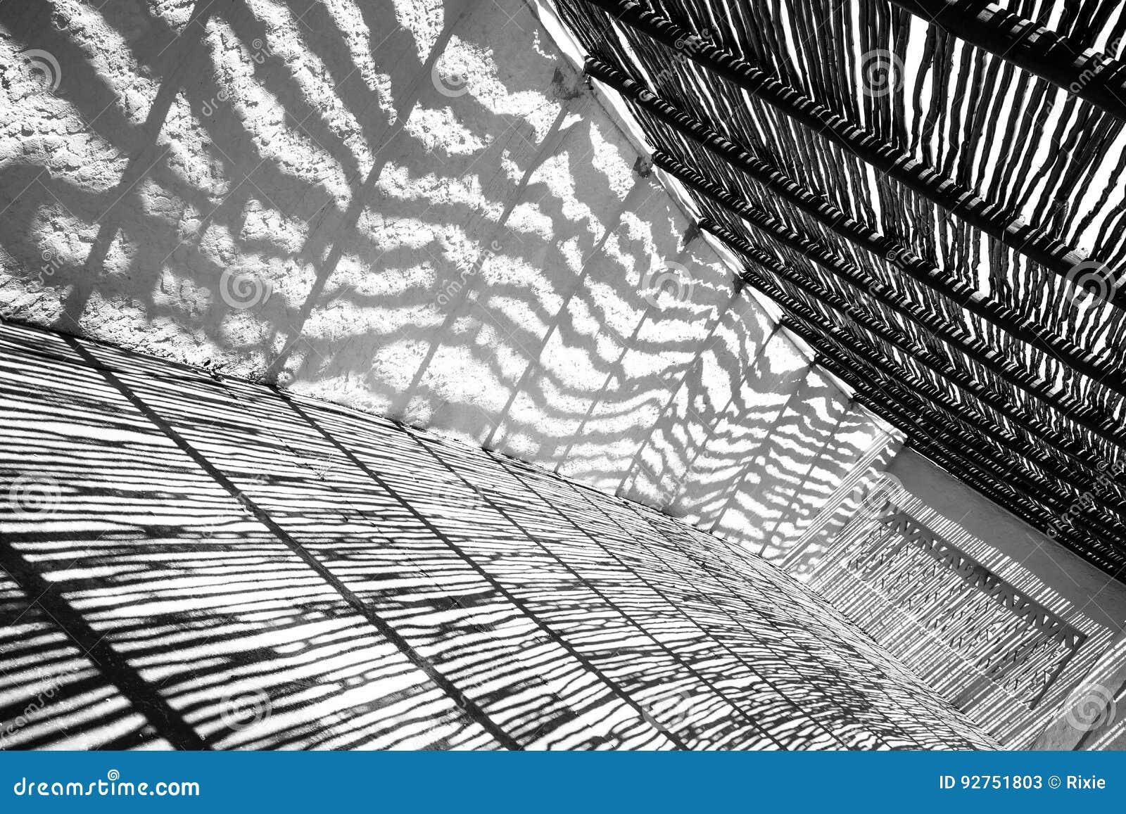 Shadows black and white