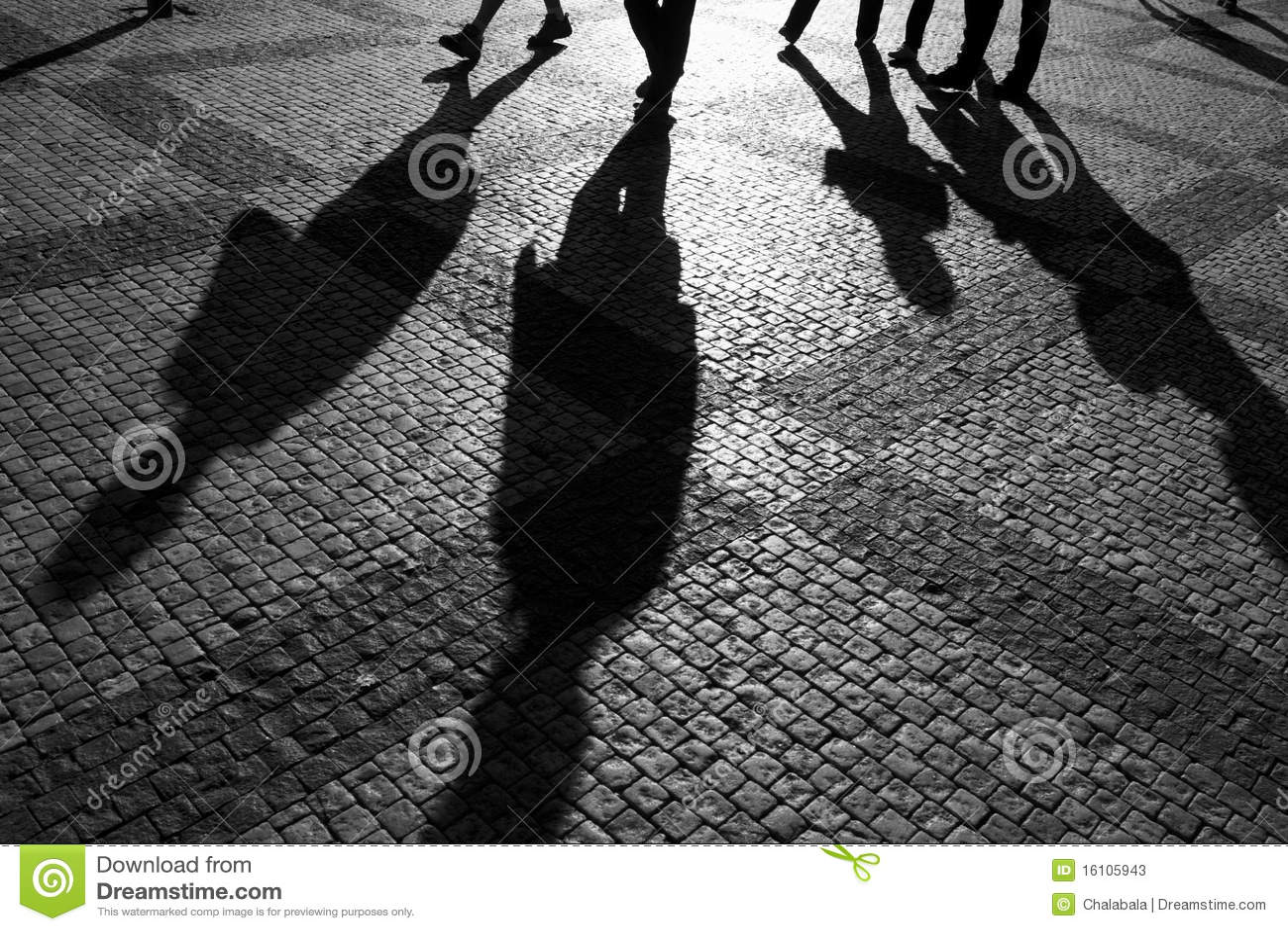 Shadows of people