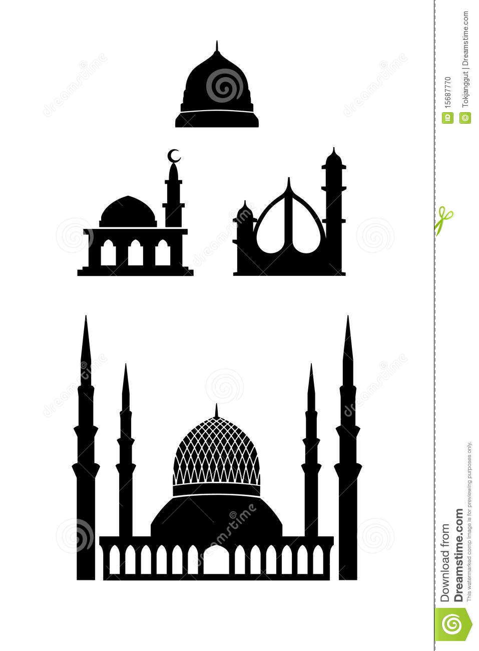 Shah Alam Mosque Icon Stock Photo - Image: 15687770
