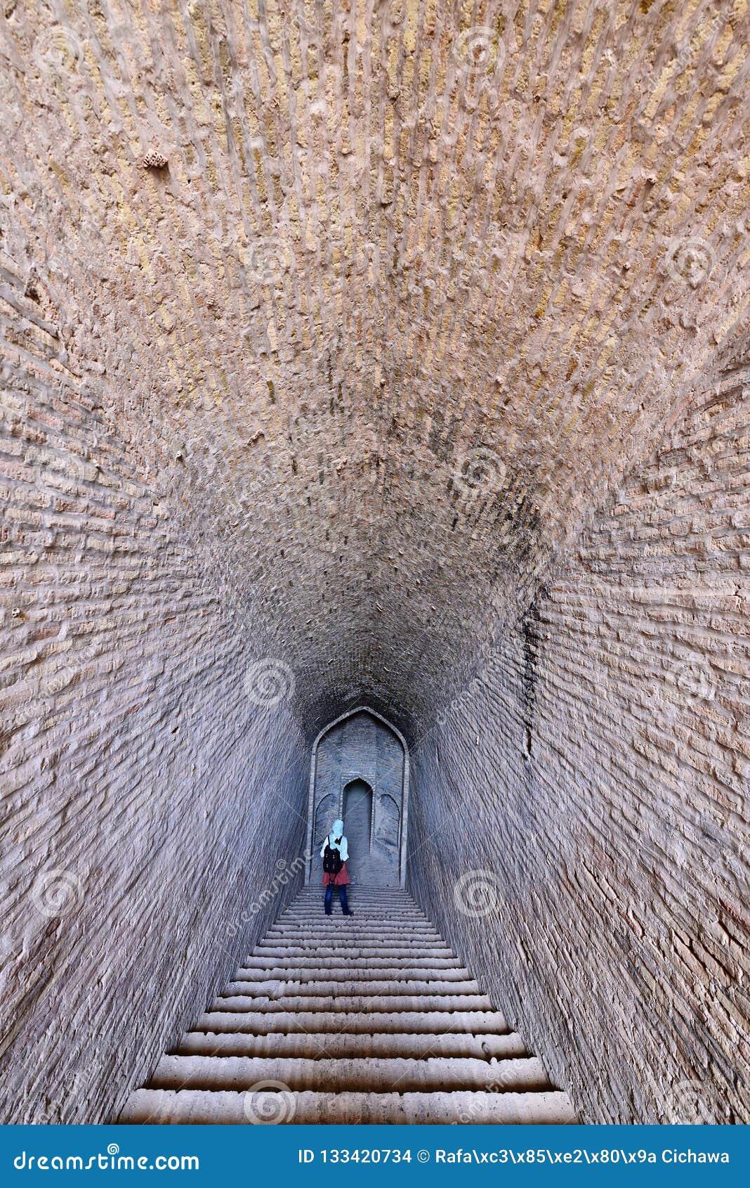 Shahdad oas i Iran Forntida vattenbehållare