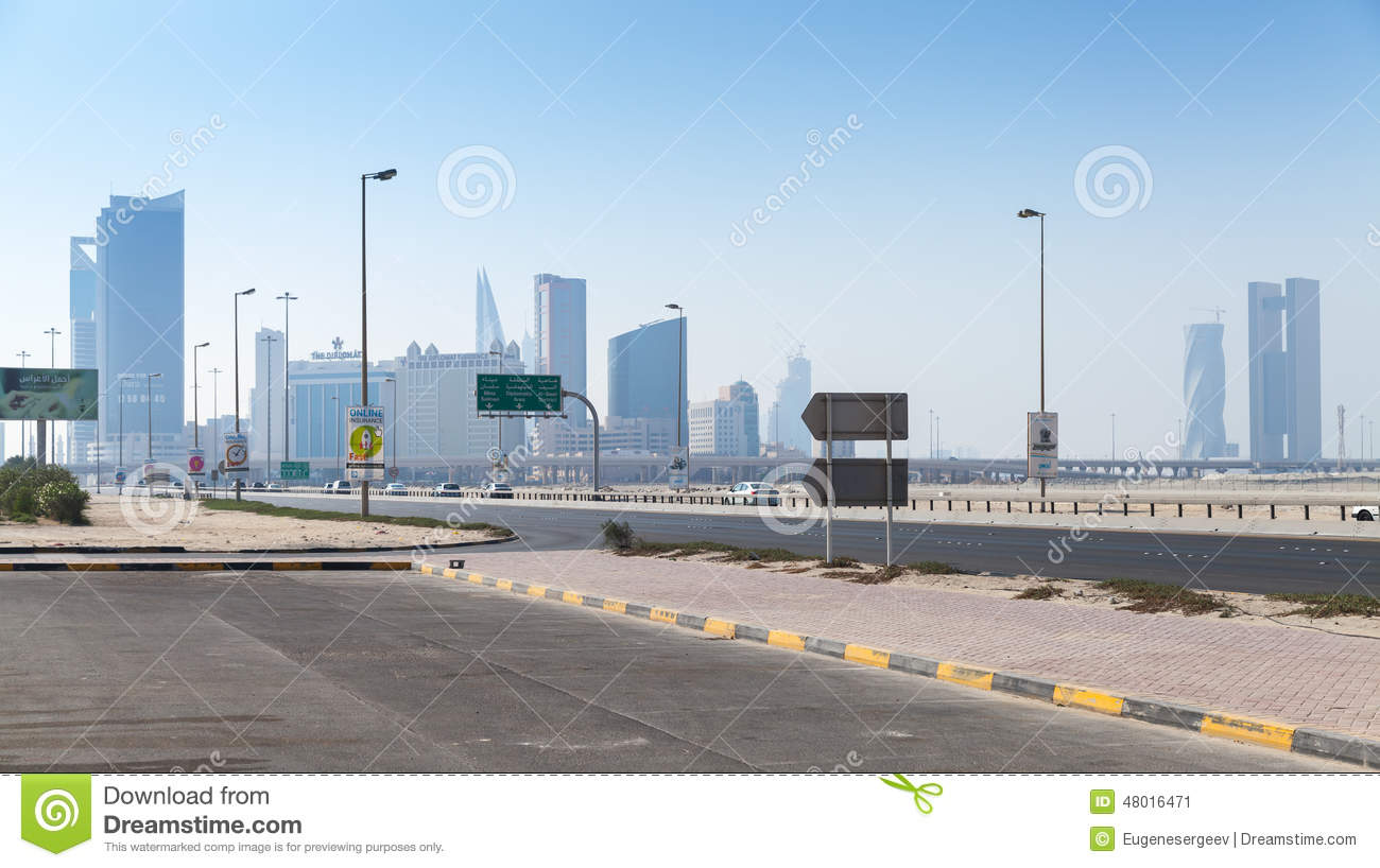 Shaikh hamad causeway cidade de manama capital de bar m for United international decor bahrain