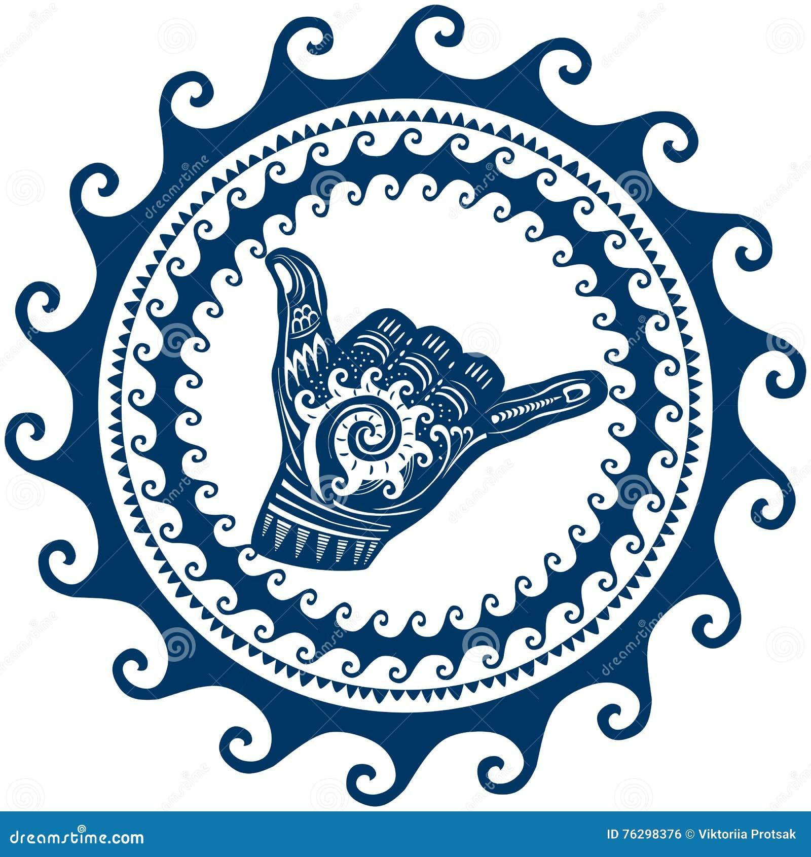 Aloha Shaka Stock Image Cartoondealer Com 39652159