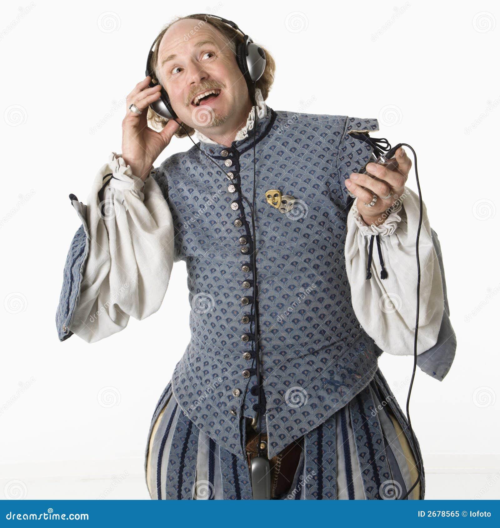 Shakespeare die aan muziek luistert