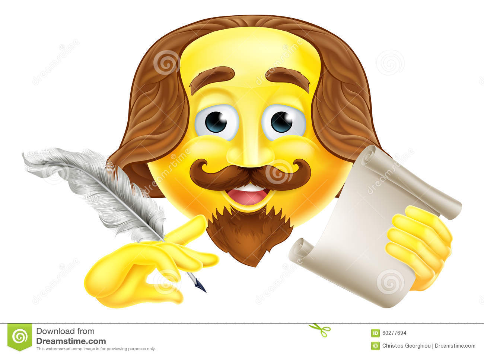 Clip Art Shakespeare Clipart shakespeare stock illustrations 214 emoji emoticon images