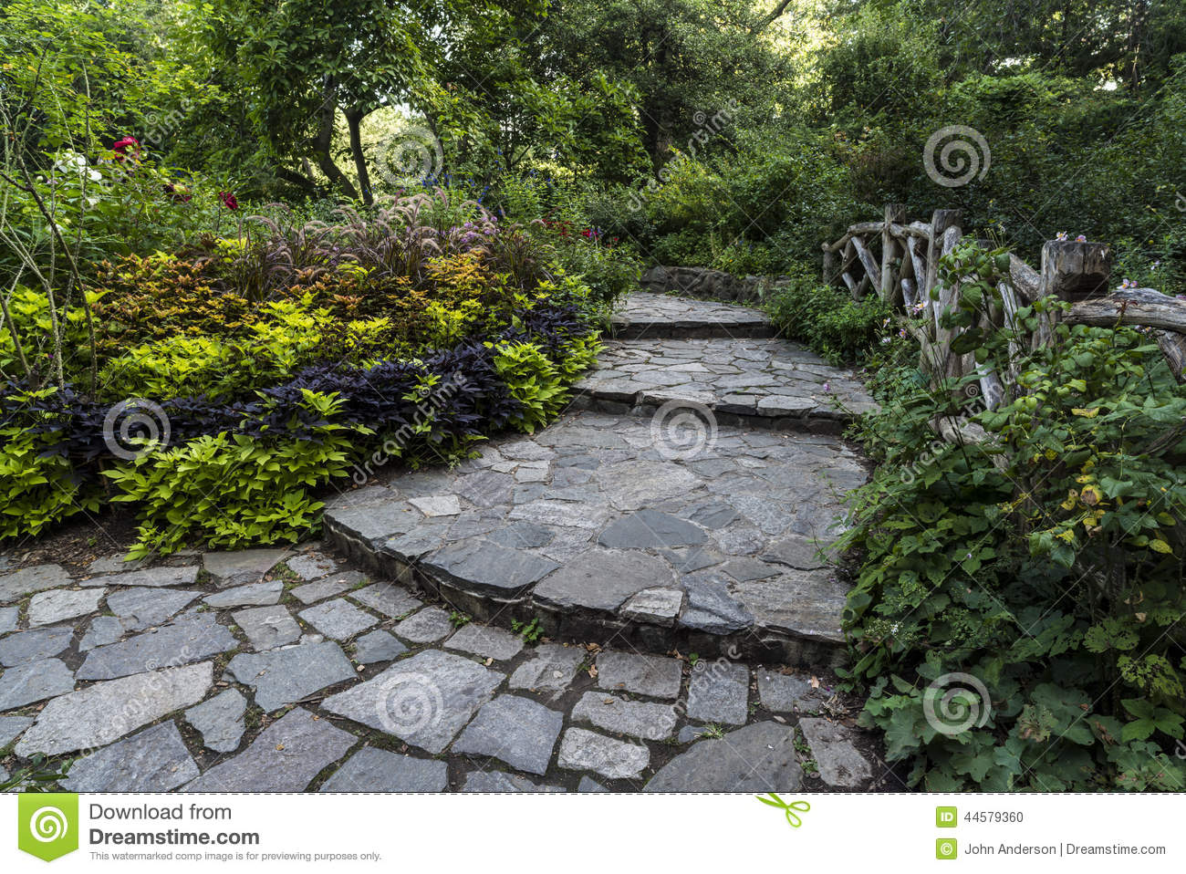 Shakespeare Garden Central Park New York City Stock Photo