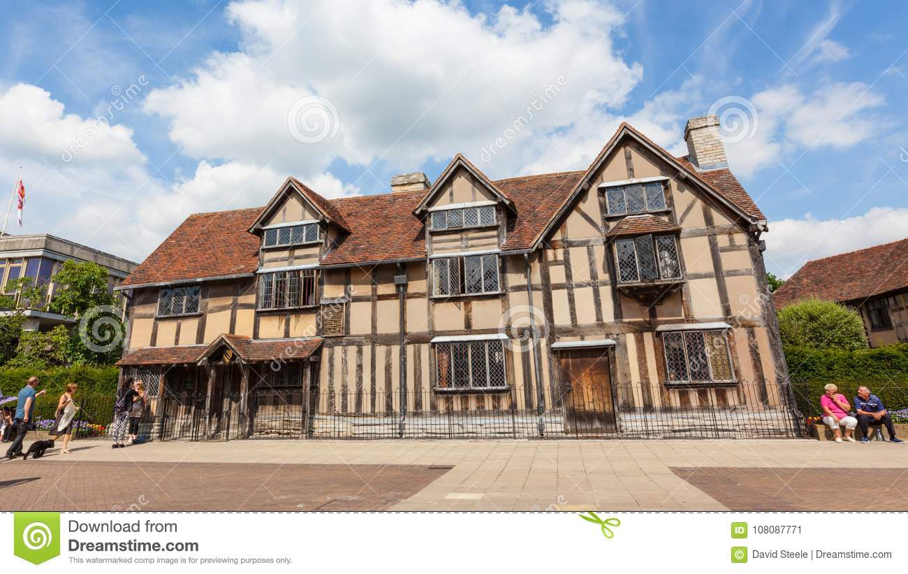 Download Shakespeares Birthplace In Stratford Upon Avon Editorial Photo