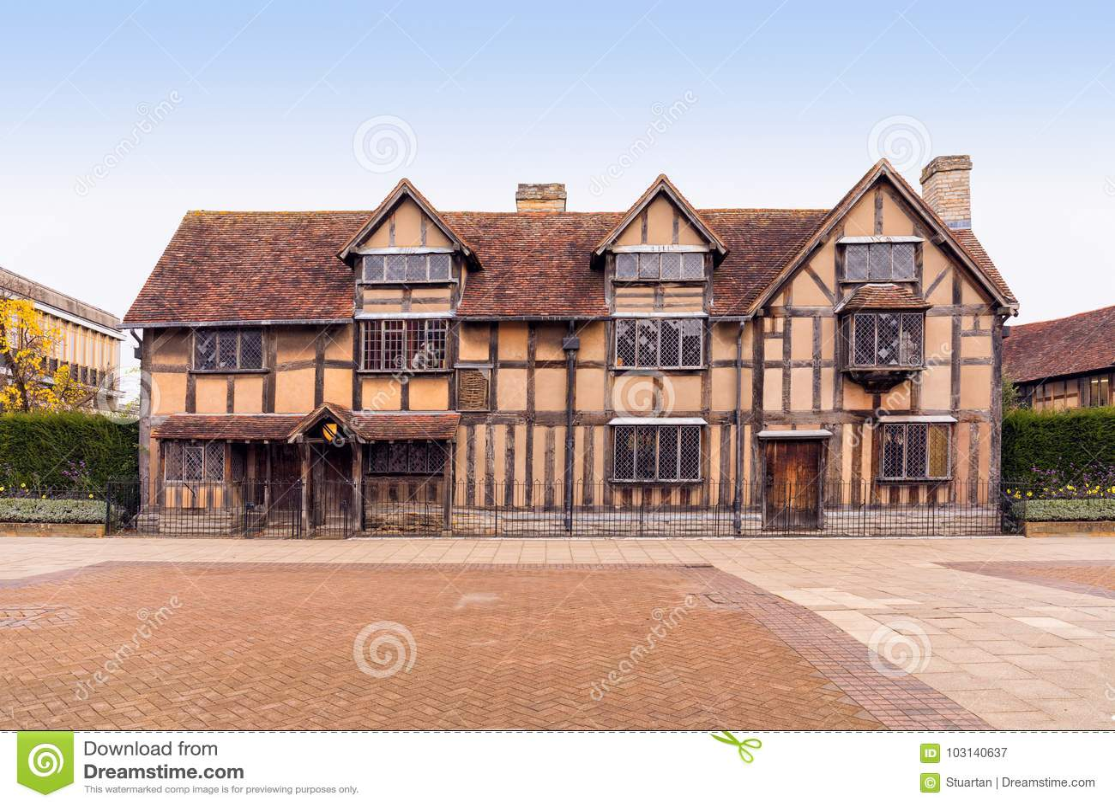 Shakespeares Birthplace Stratford Upon Avon Warwickshire England
