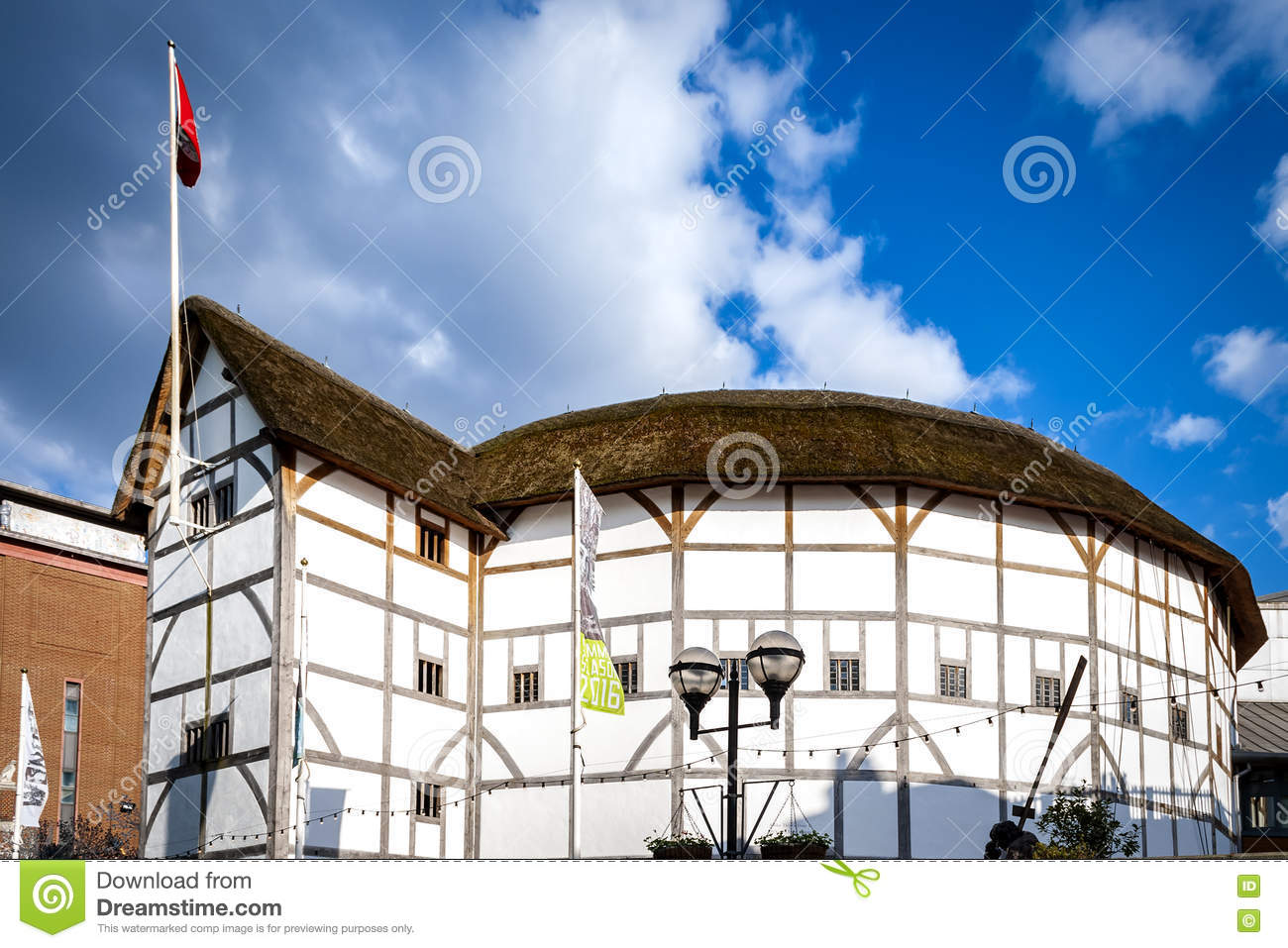 Shakespeare s Globe on a sunny day