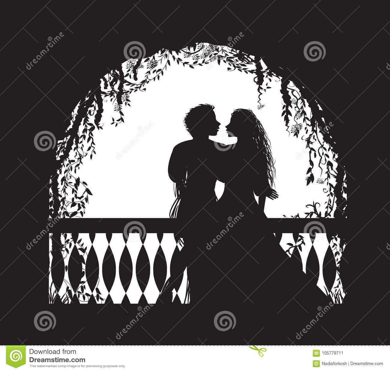 Shakespeare S Play Romeo And Juliet On Balcony, Romantic Date, Silhouette,  Love Story