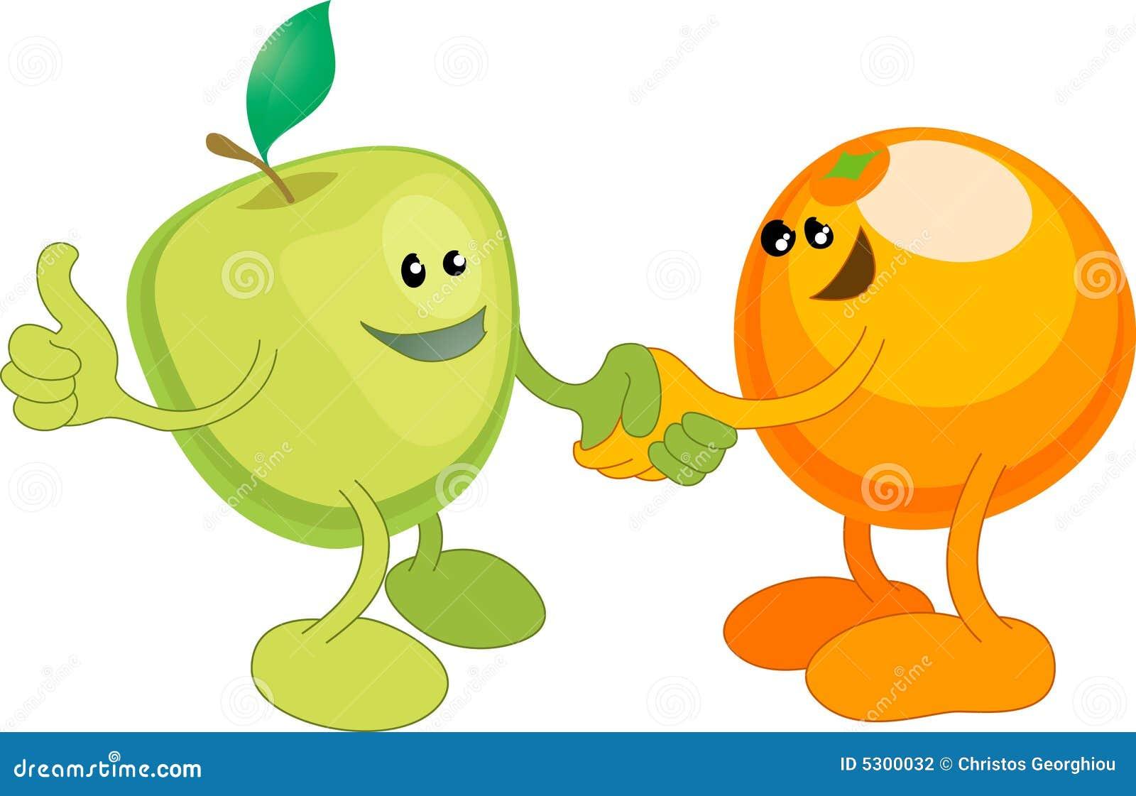 Download Shaki Dell'arancio E Del Apple Felicemente Illustrazione Vettoriale - Illustrazione di differenze, confrontare: 5300032