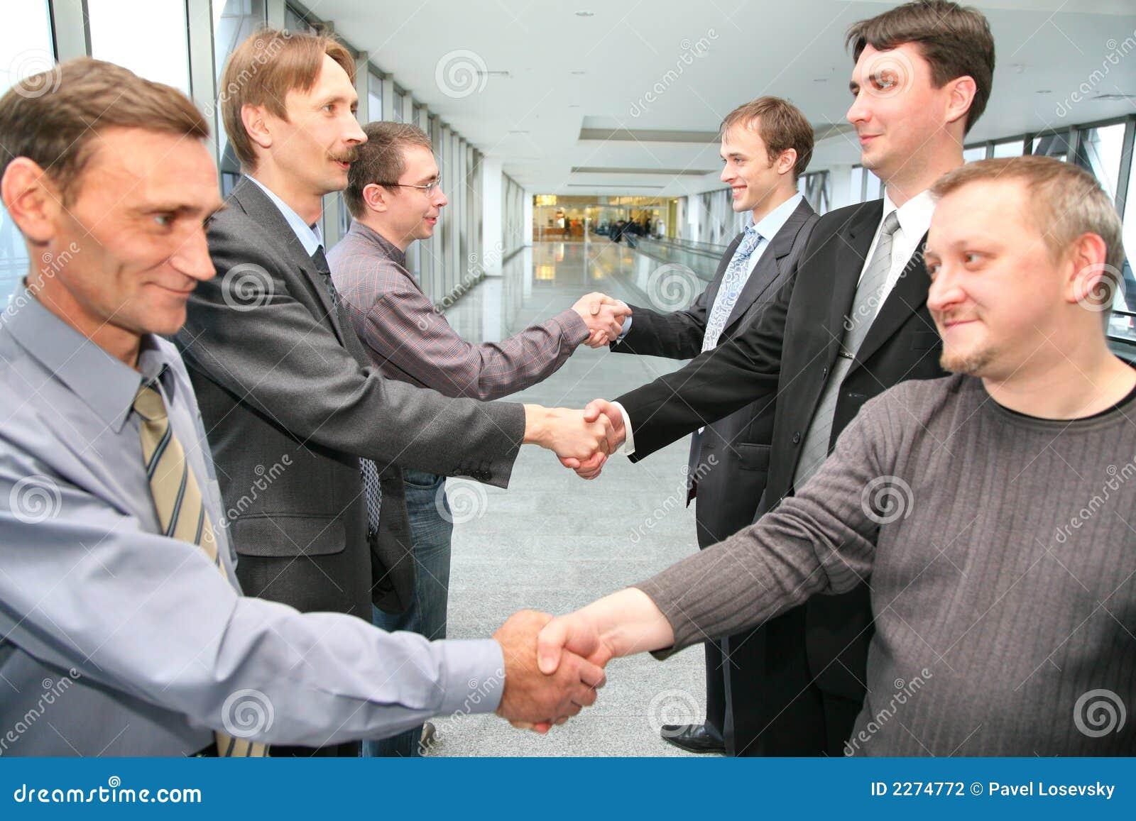 Shaking hands business partner