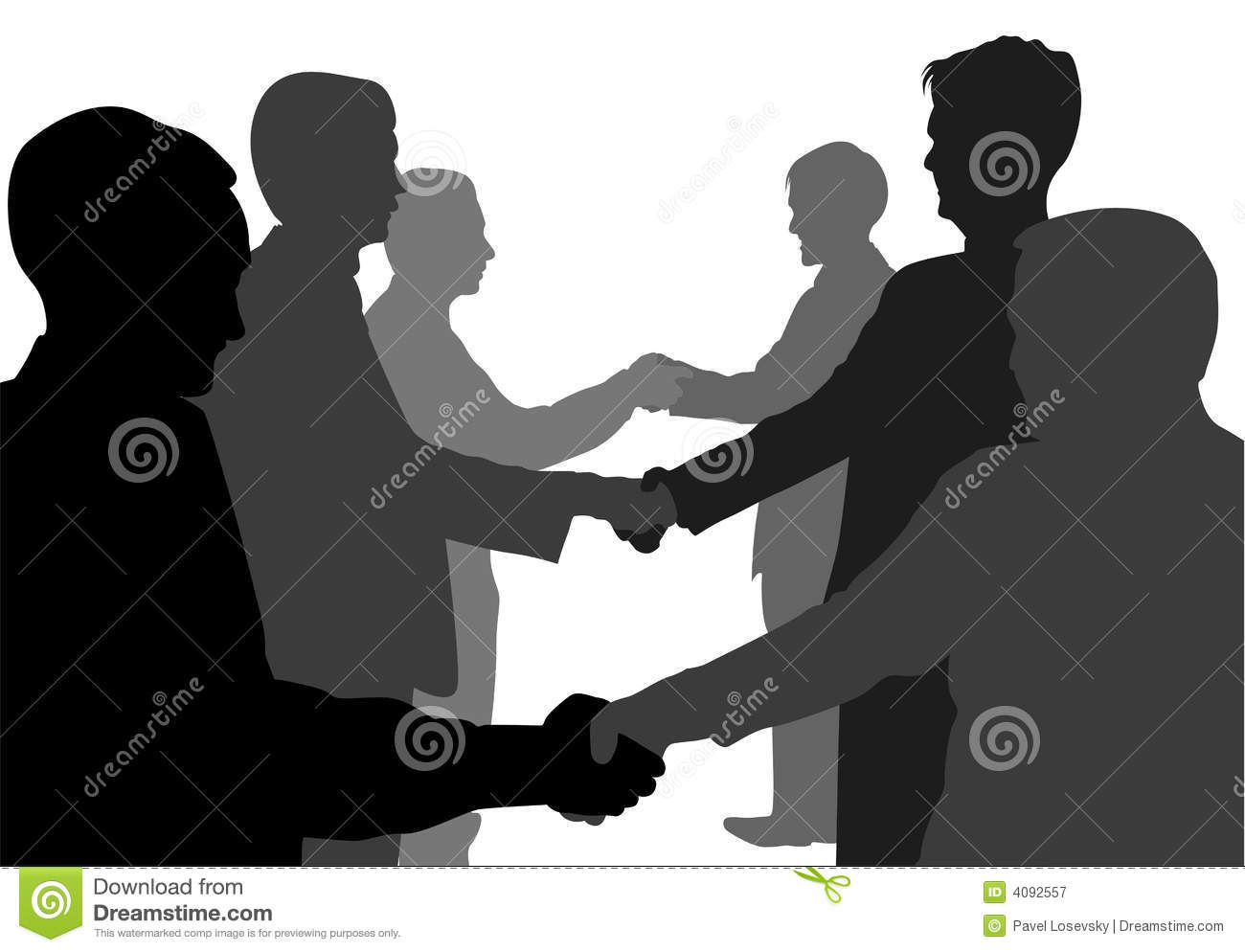 Shaking hands partners
