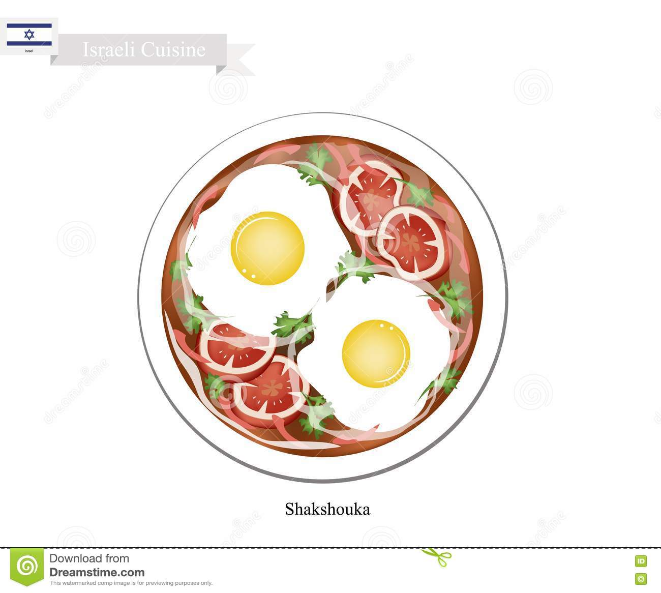 Israeli Cuisine, Shakshouka or Traditional eggs poached with Tomato ...