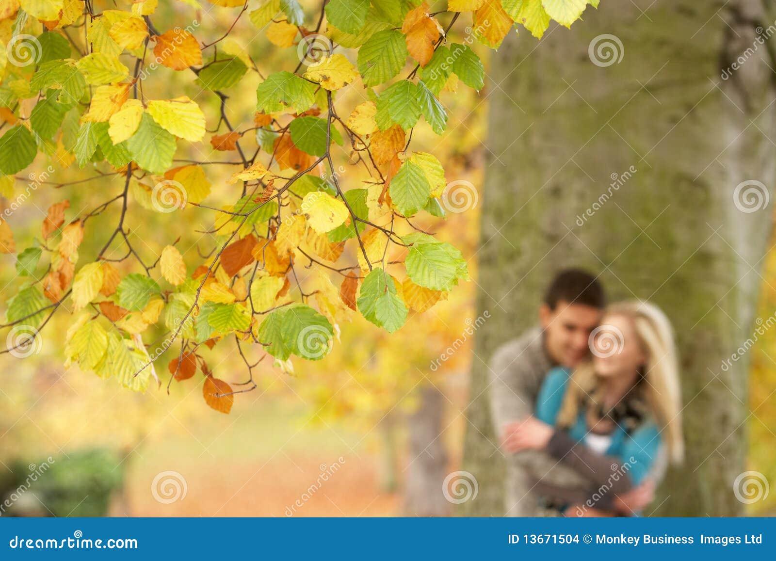Shallow Focus View Of Romantic Teenage Couple