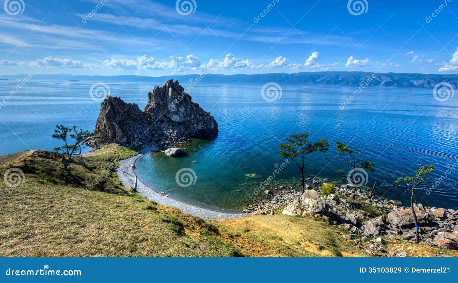 Morocco Design Shaman Rock Island Of Olkhon Lake Baikal Russia Royalty
