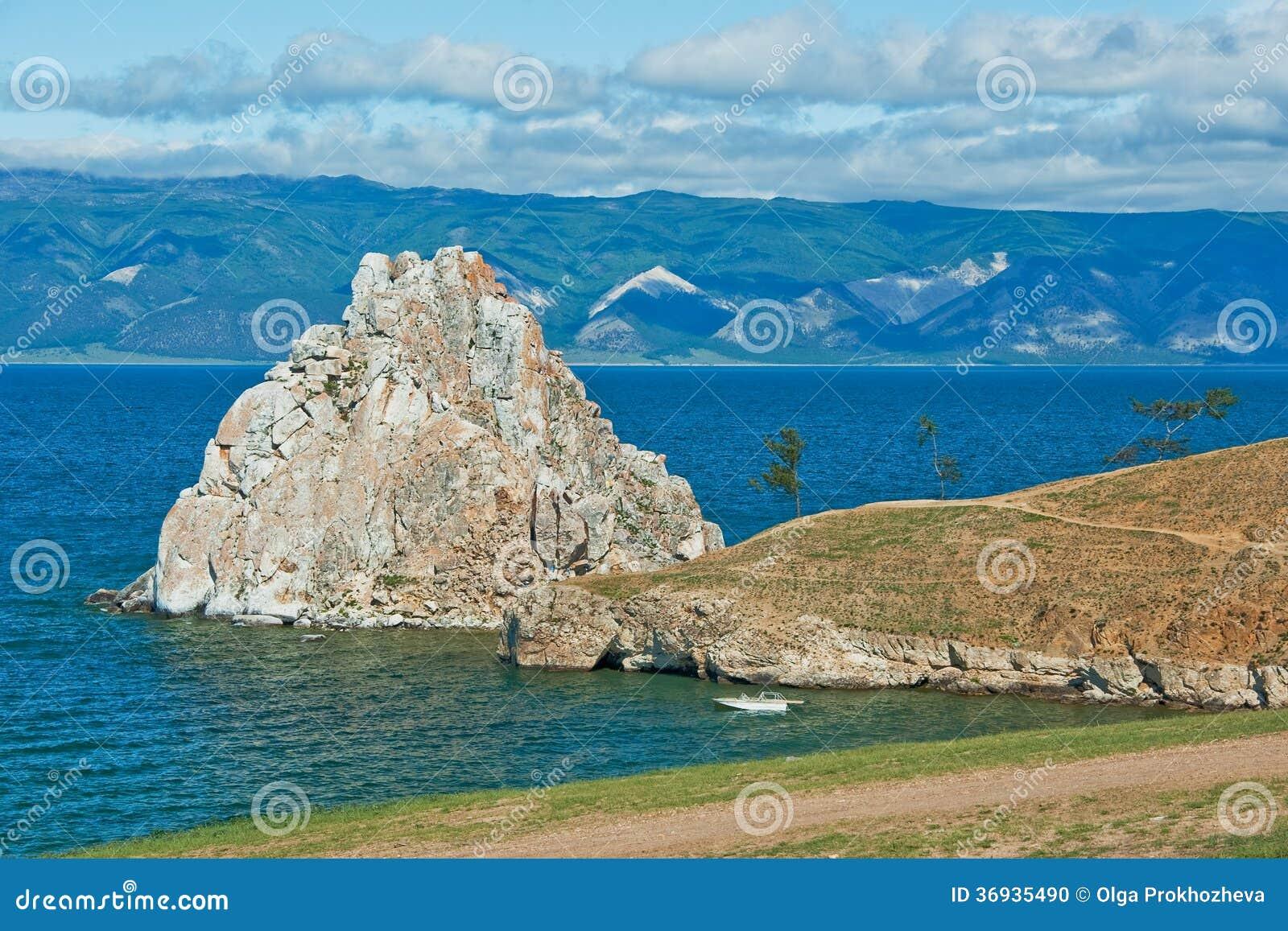 Shaman rock on Olkhon Island (Lake Baikal, Russia).