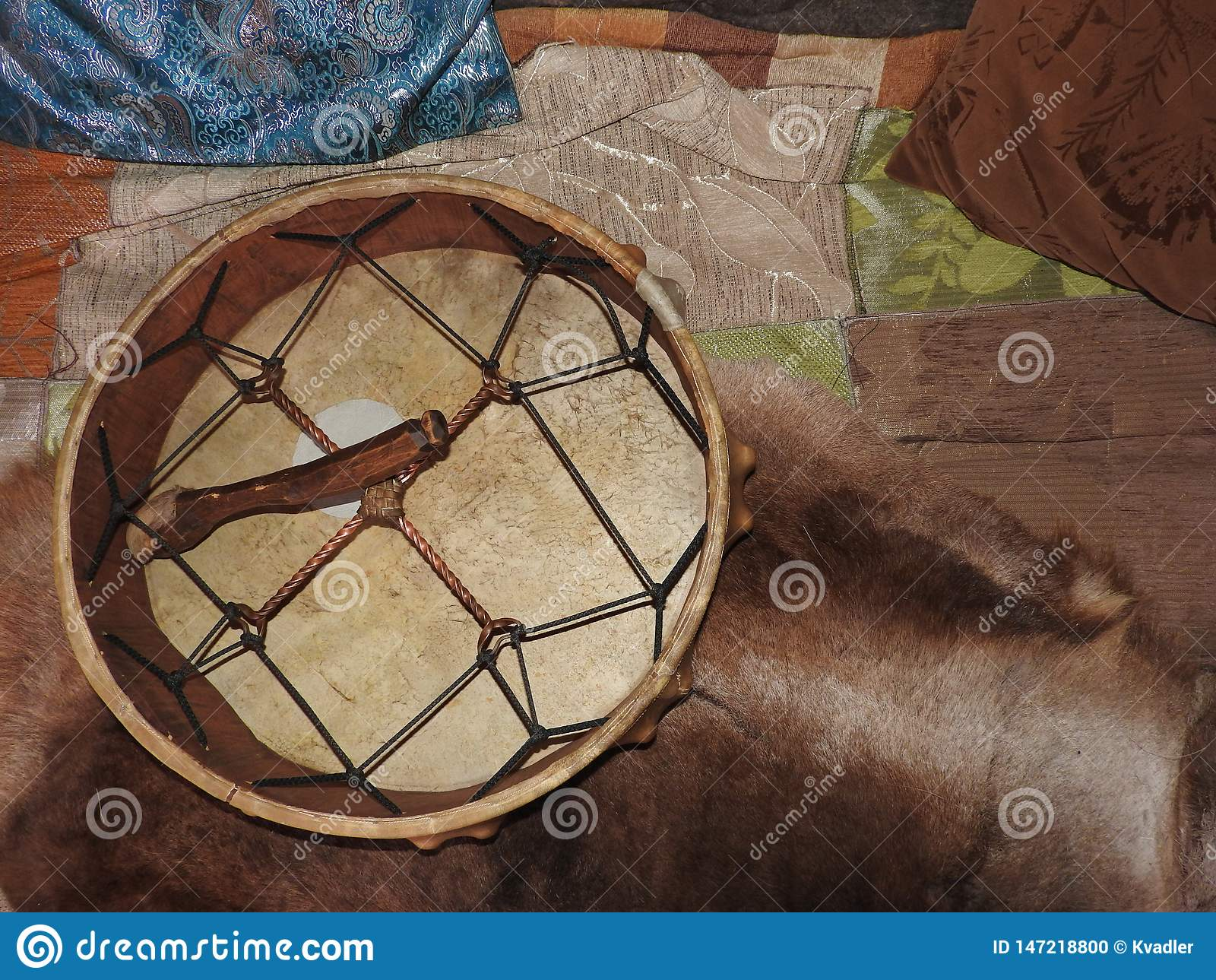 Shamanic tamburin Medicinmanvals E