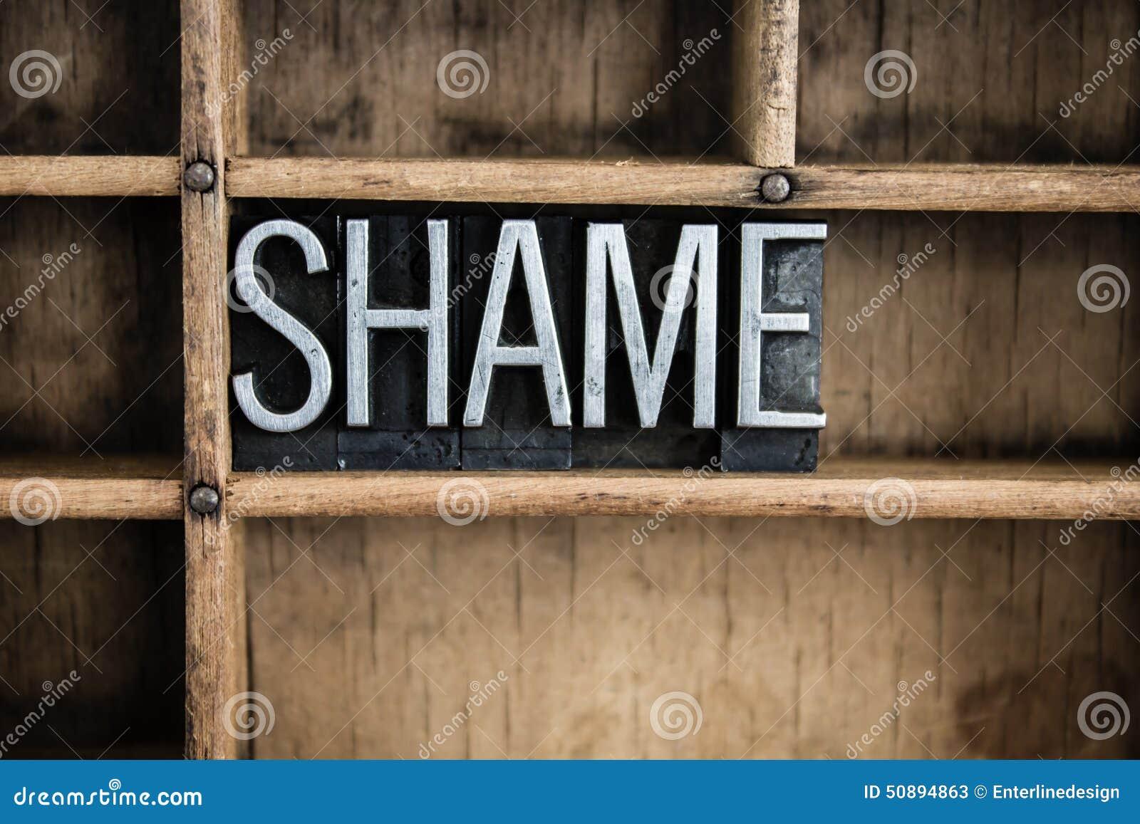 Disgrace Or Public Shame  Letters