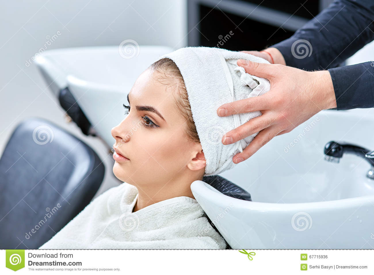 Shampoo for hair beauty salon hair wash stock photo for A beautiful you salon