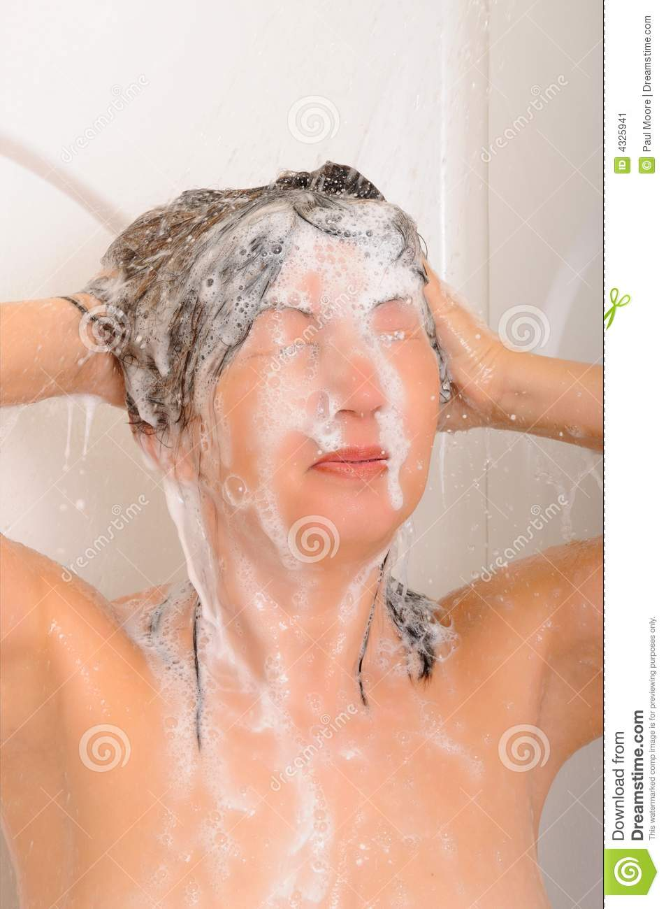 Shampoo Hair Shower Stock Image Image 4325941