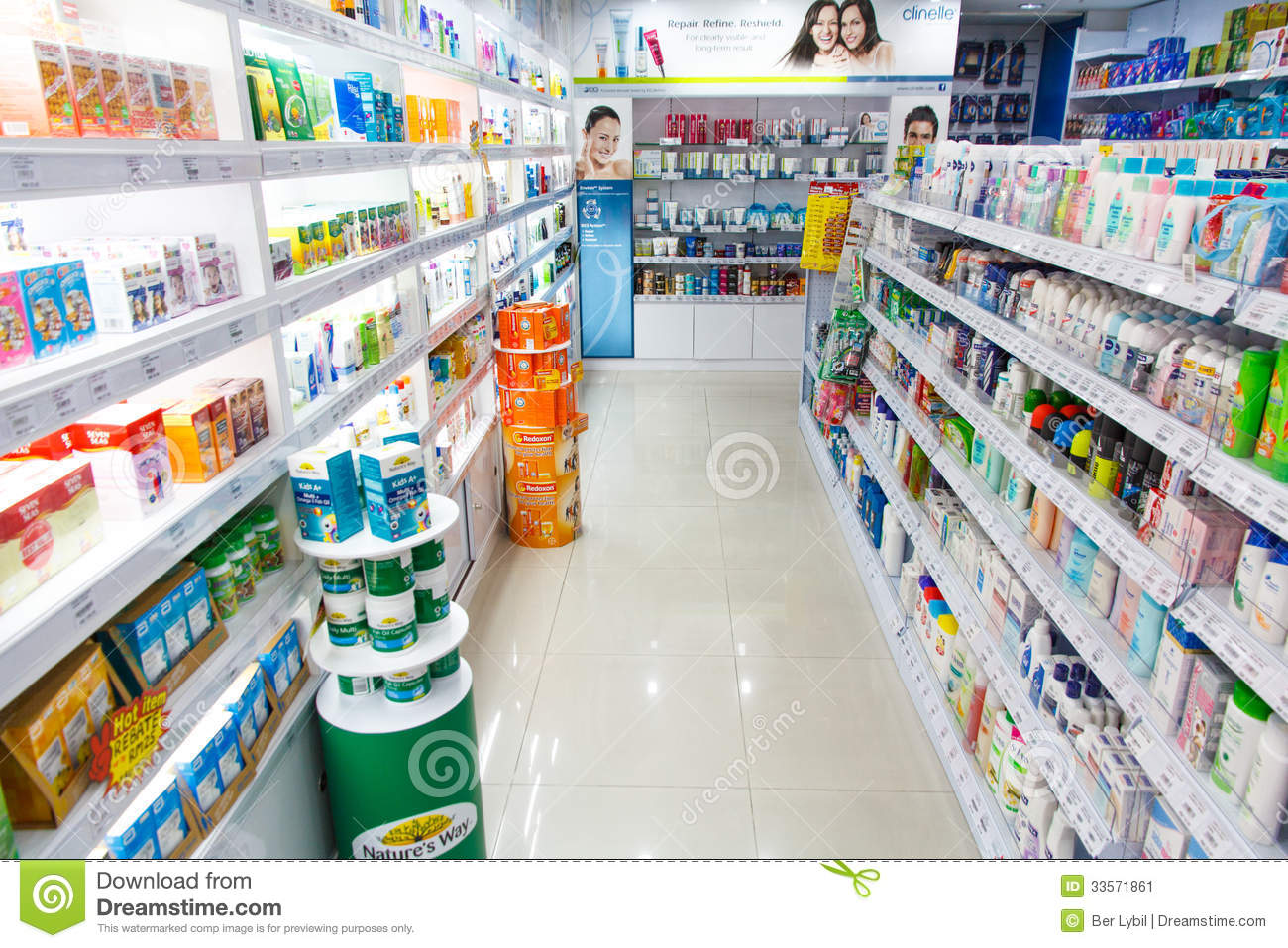 shampoos and personal care products in store editorial photo image