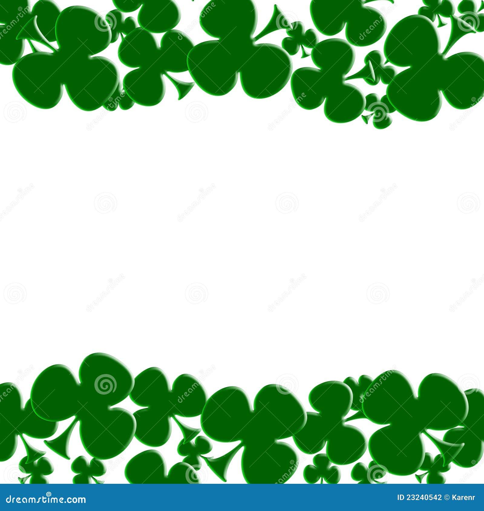 Green shamrocks on white for a Saint Patricks background.