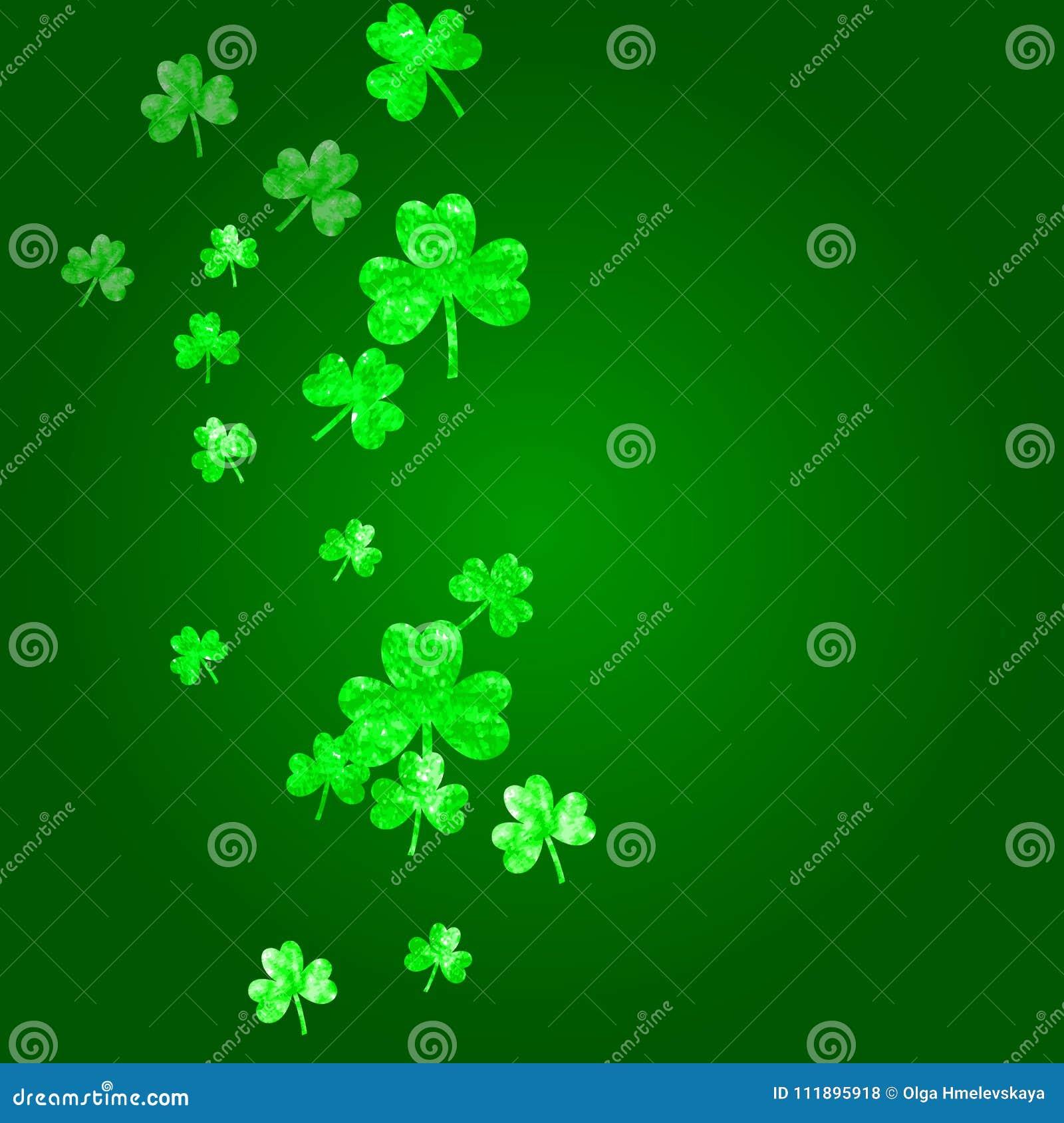 Shamrock Background For Saint Patricks Day Stock Vector