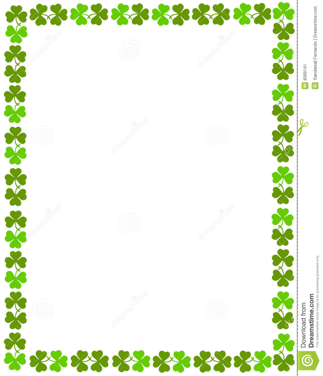 Four leaf cloves / shamrock border for st, patrick's day designs.