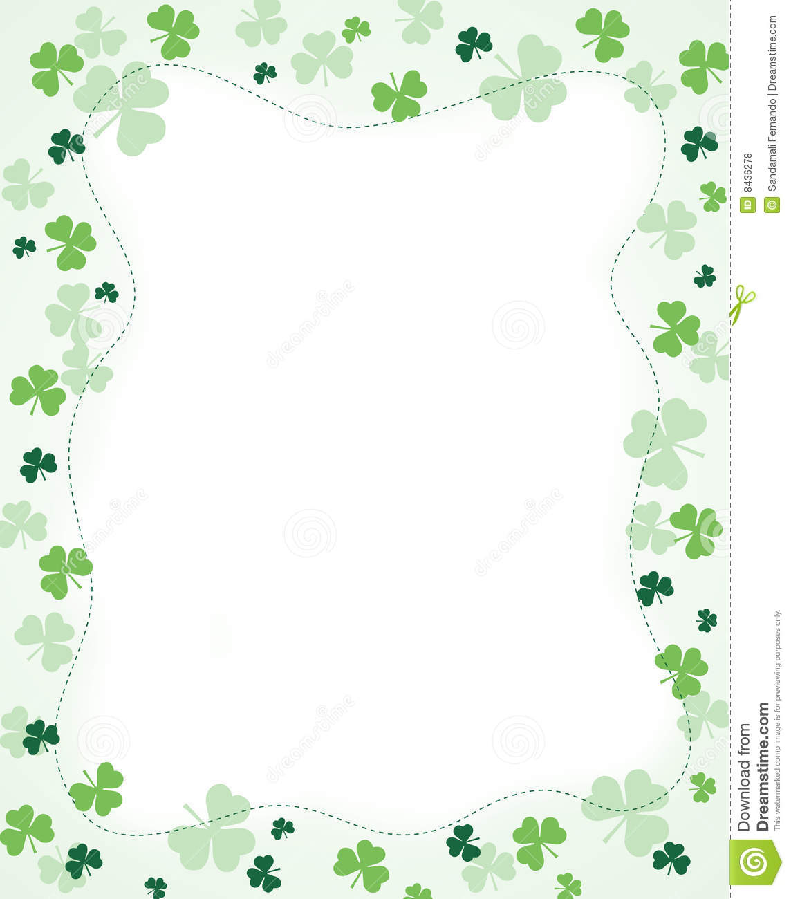 Shamrock Border Royalty Free Stock Photos - Image: 8436278