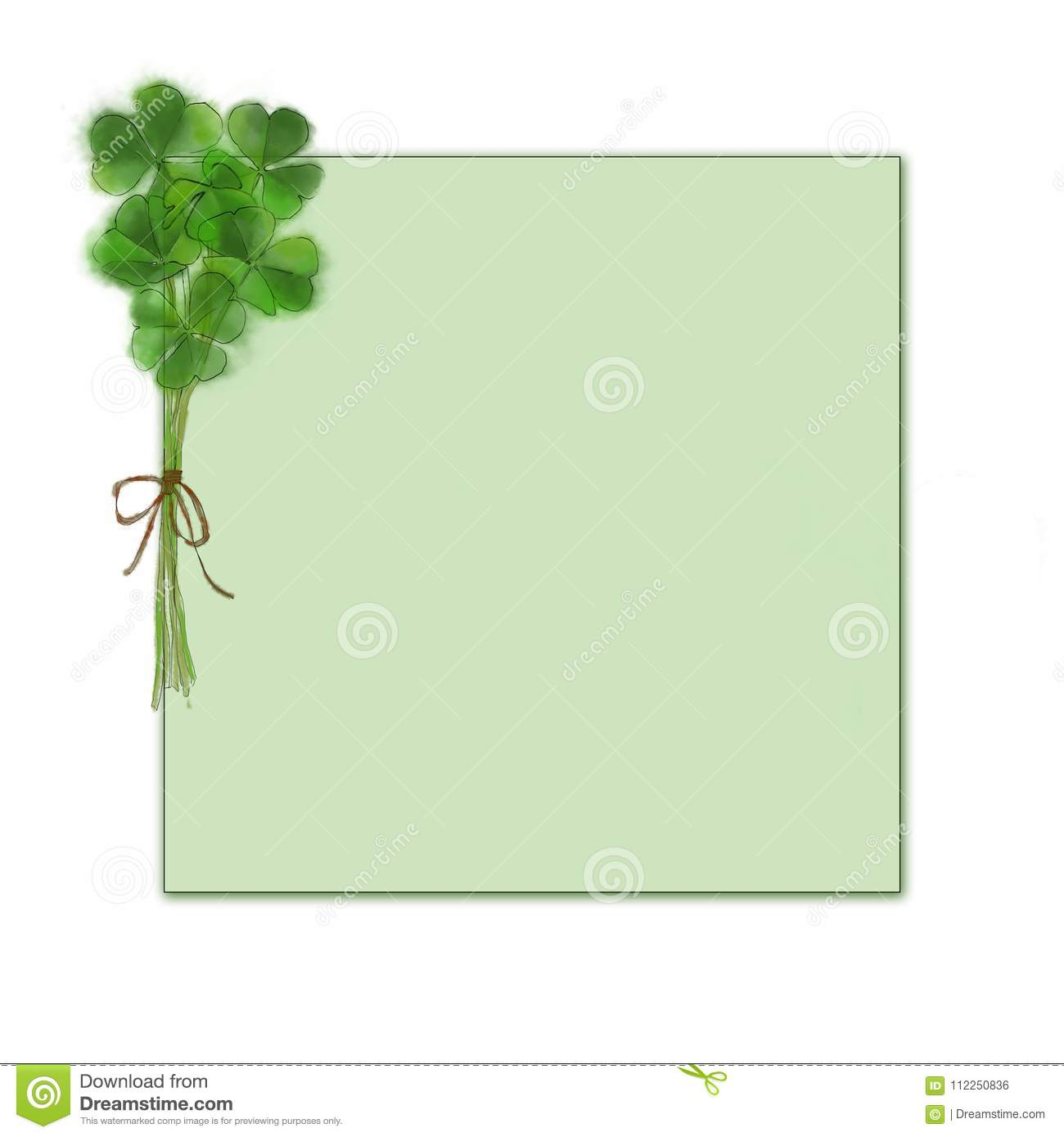 shamrock bouquet template st patrick s day design for template