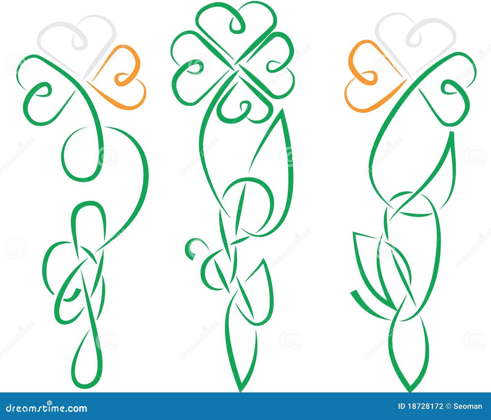 Celtic Cross With Shamrock Shamrock celtic ireland knot