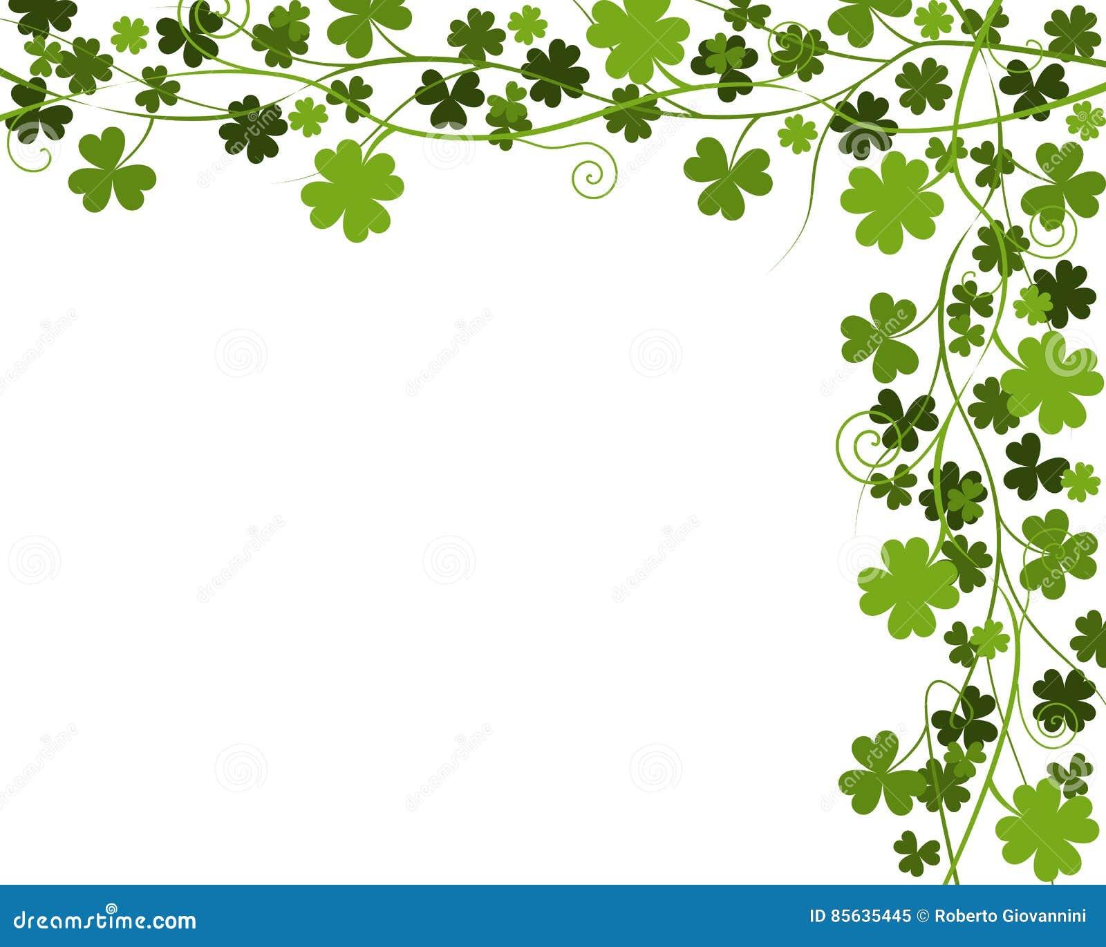 Shamrock Four Leaf Clover Border An Elegant Made Of Green Shamrocks And
