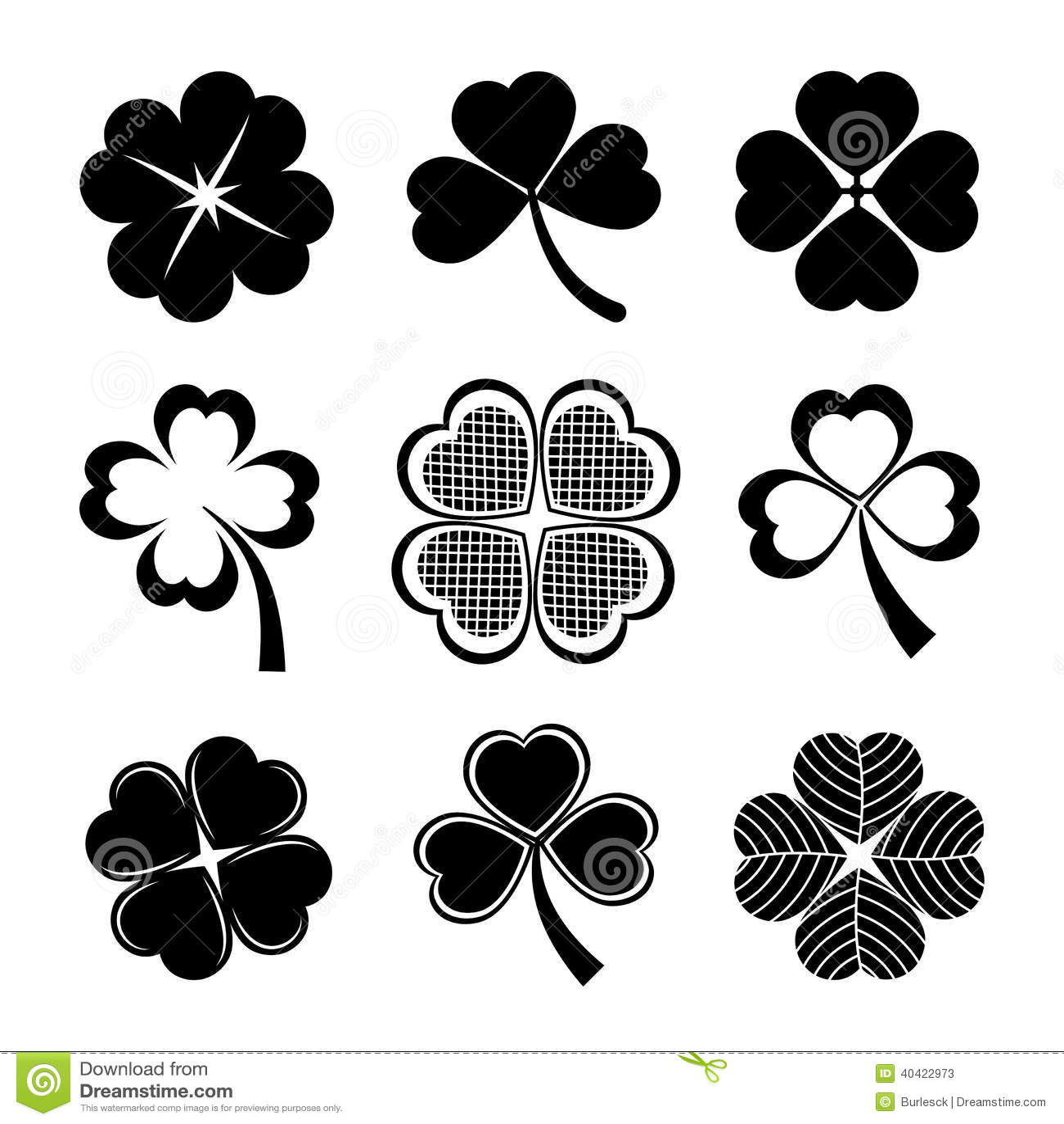 shamrock icon four leaf clover royalty free stock photo